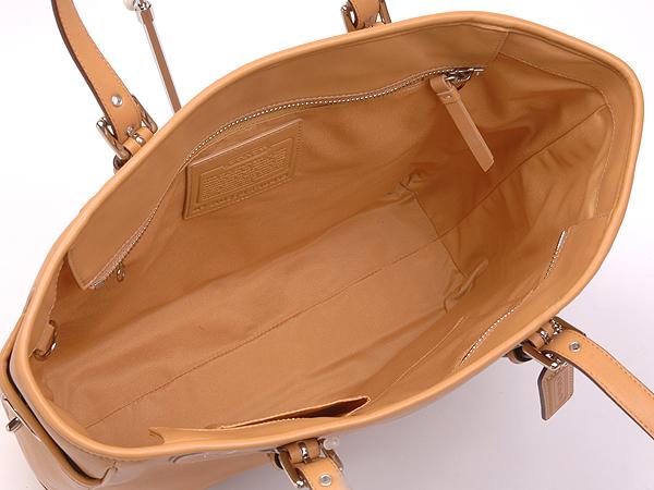 コーチ トートバッグ10413キャメル 荷室
