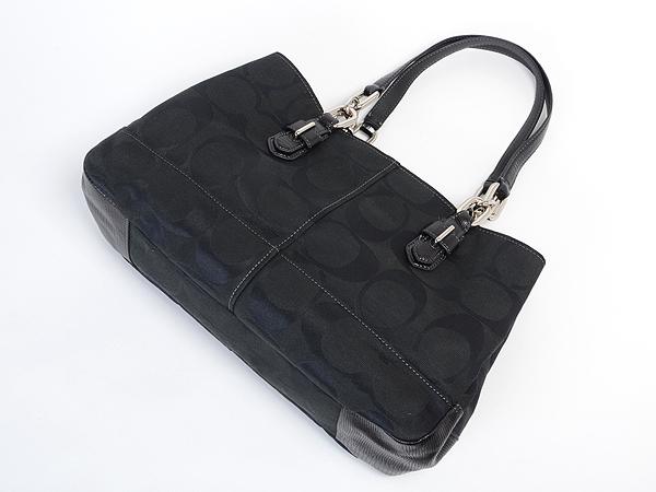 コーチハンドバッグ黒17806SVBKシグネチャー