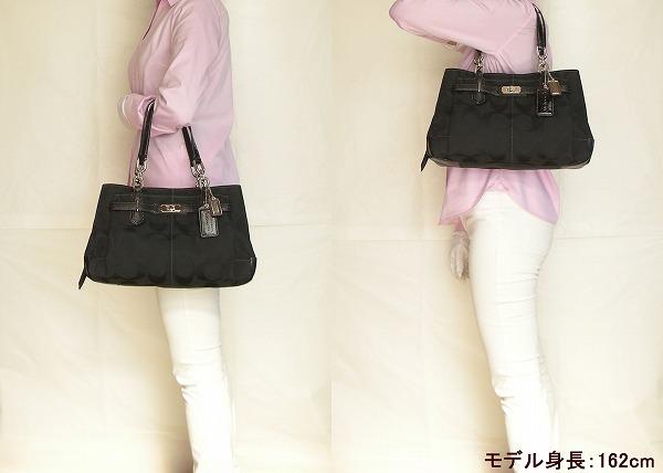 コーチハンドバッグ黒17806SVBKシグネチャー モデル写真