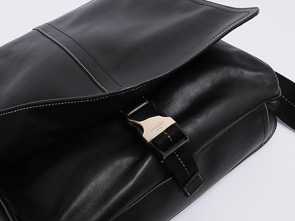 コーチメンズレザーバッグ70105SVBK黒