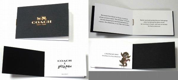 COACH × BASEMAN  WILD BEAST CARD