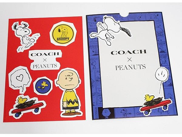 コーチ×ピーナッツ シールとケース表