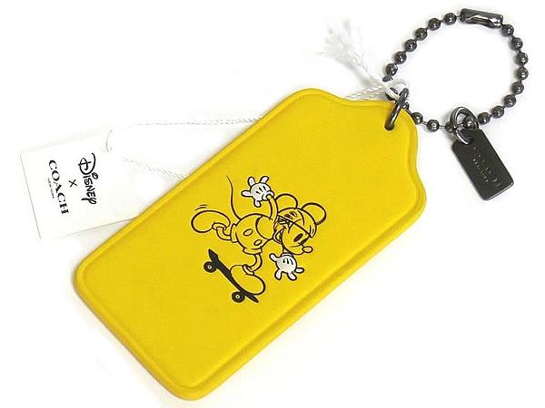 コーチ ミッキーマウス ハングタグF59153黄色 表