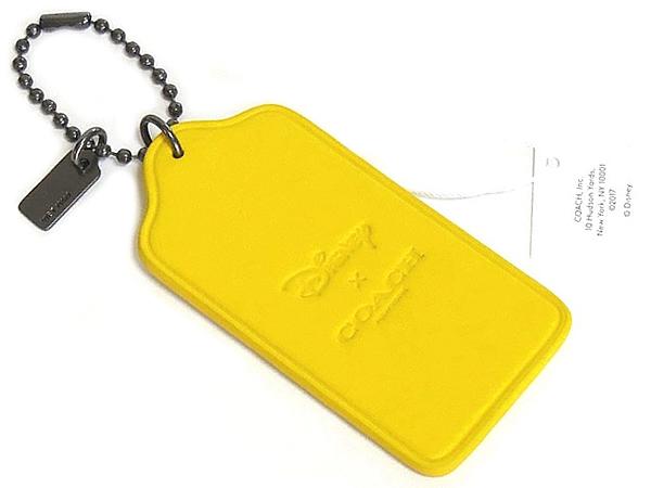 コーチ ミッキーマウス ハングタグF59153黄色 裏