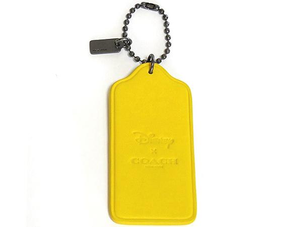 コーチ ミッキーマウス ハングタグF59153黄色 背面
