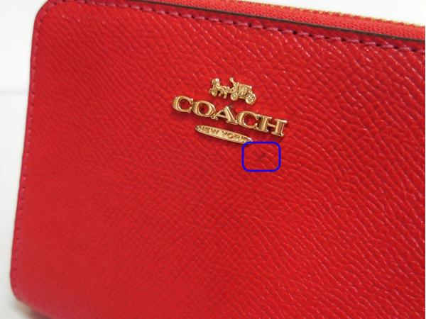 コーチ スモール財布F31553チェリー赤 訳あり汚れ