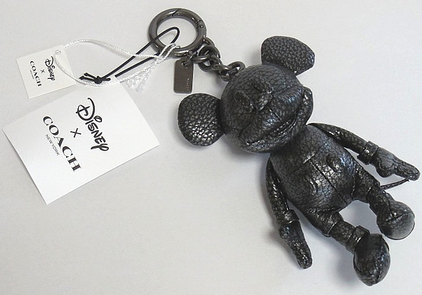 コーチ ミッキーマウス レザー人形F59152黒 正面