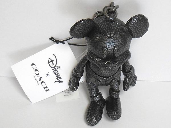 コーチ ミッキーマウス レザー人形F59152黒 天面