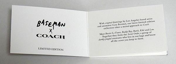 ゲイリー・ベースマン×コーチ冊子