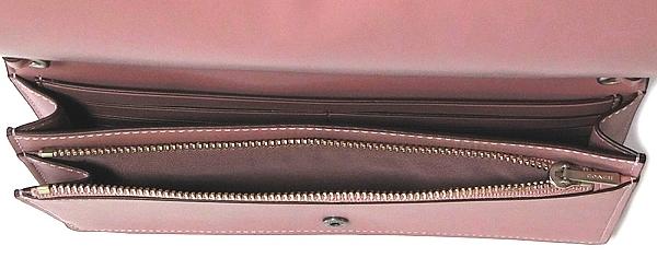 コーチ 斜めがけ財布バッグ12047ピンク ジップポケット
