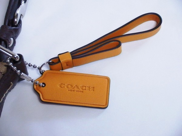コーチ レザー製スライダー オレンジ