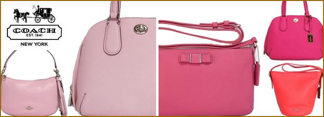 コーチ ピンク色バッグ