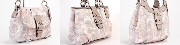 リネン素材のオプティック・シグネチャーのバッグ