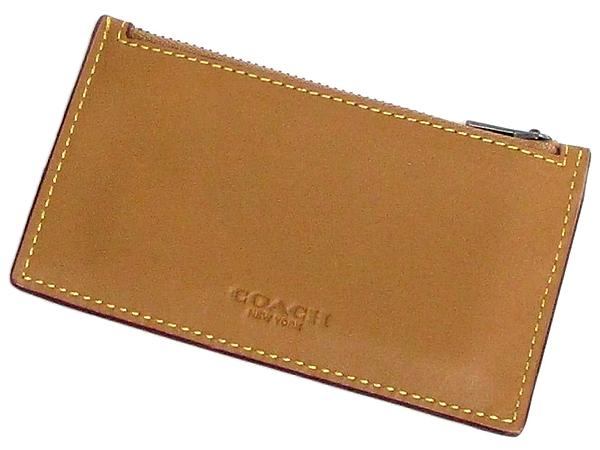 コーチ カードケース22879きつね色 前面