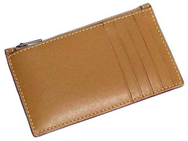 コーチ カードケース22879きつね色 背面
