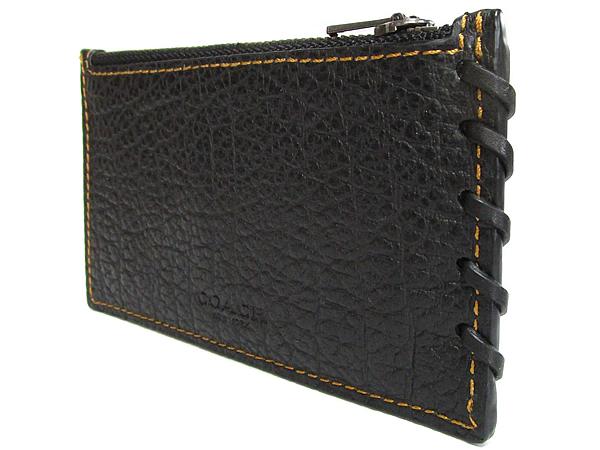 コーチ メンズ カードケース59285黒 ステッチ