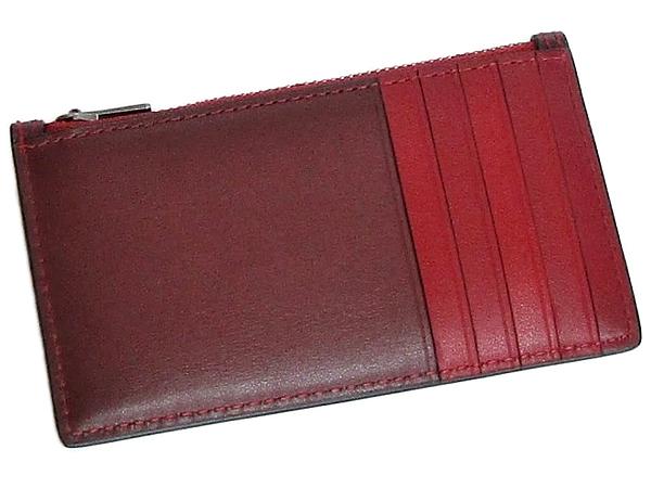 コーチ カードケース91697ワイン赤 背面
