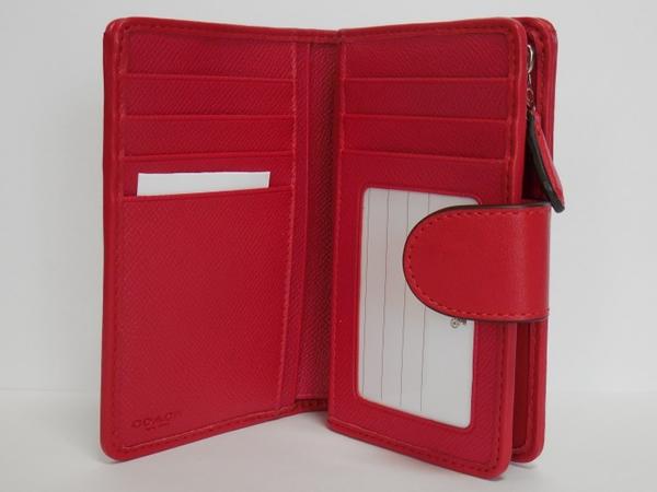 コーチ コンパクト財布53743赤 カード入れ