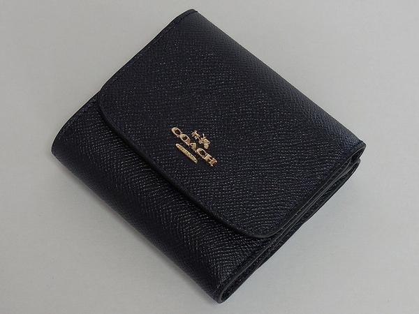 コーチ レディース コンパクト財布57725紺