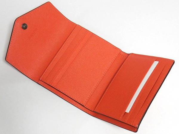 コーチ コンパクト財布58298オレンジ カード入れ