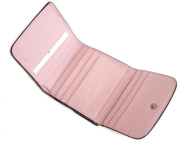 コーチ コンパクト財布F53837ピンク カードポケット