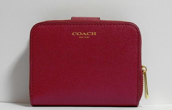 コーチ アウトレット二つ折り財布49352ワインレッド