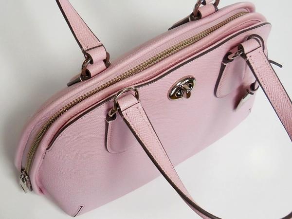 コーチ ミニハンドバッグ34940淡いピンク 天面