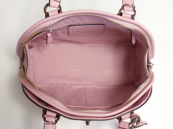 コーチ ミニハンドバッグ34940淡いピンク 荷室