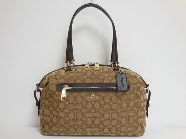 コーチ ハンドバッグ36532茶色 ボストン形