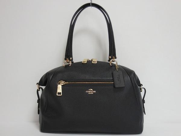 コーチ ハンドバッグ36560黒 ボストン形正面