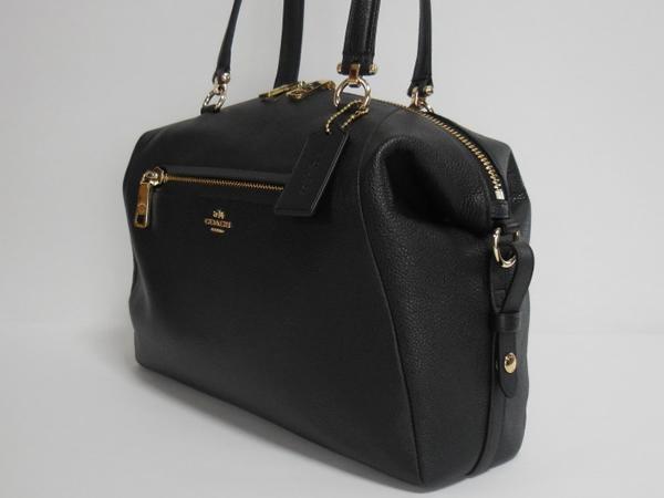 コーチ ハンドバッグ36560黒 ボストン形側面