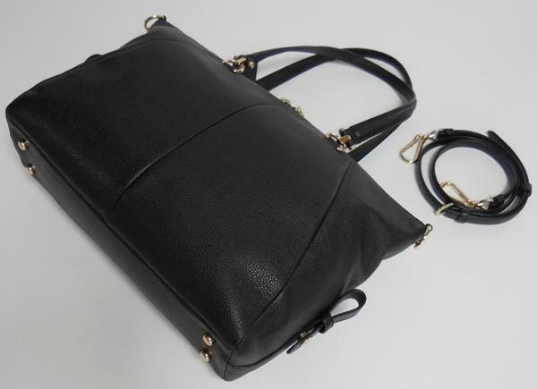 コーチ ハンドバッグ36560黒 背面