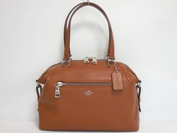 コーチ ハンドバッグ36560茶色 ボストン形正面
