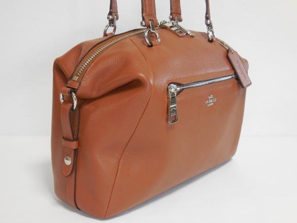コーチ ハンドバッグ36560茶色 ボストン形側面