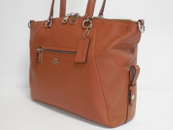 コーチ ハンドバッグ36560茶色 側面