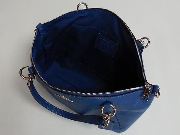 コーチ ハンドバッグF28993ブルー 内装