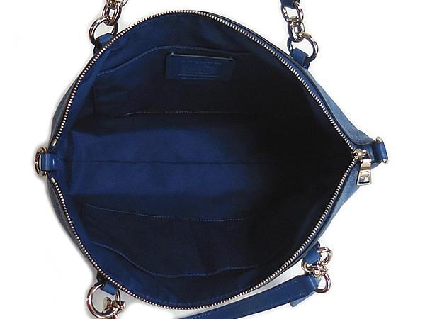 コーチ ハンドバッグF28993ブルー 荷室