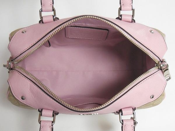 コーチ ミニハンドバッグF36702ピンク 荷室