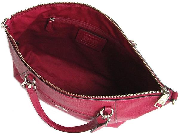コーチ ハンドバッグF79997赤紫 内装