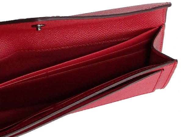 コーチ フラップ長財布57715赤 内装