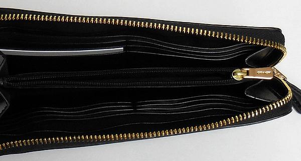 コーチ ジップ長財布F38689花柄黒 内装