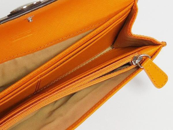4ca148377dbd コーチ アウトレット長財布 F49154 カーキ×オレンジ ポーチ付き
