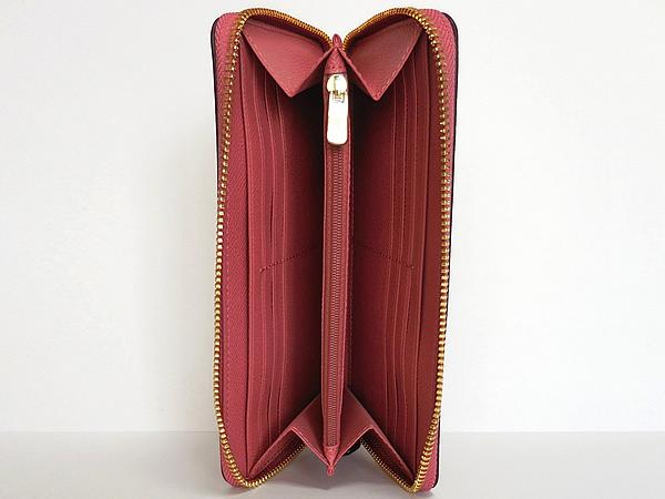 コーチ ジップ長財布F54007濃いピンク 内装