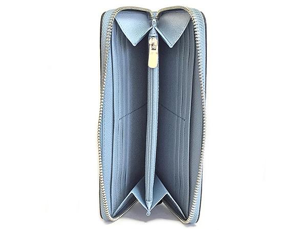 コーチ ジップ長財布F54007淡い青 内装