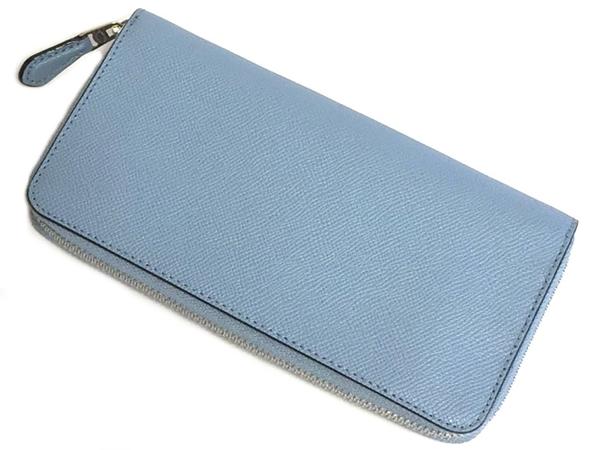 コーチ ジップ長財布F54007淡い青 背面