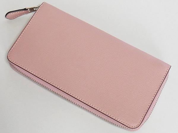 コーチ ジップ長財布F54007淡いピンク 背面