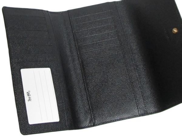 コーチ 長財布F79868黒 カードポケット