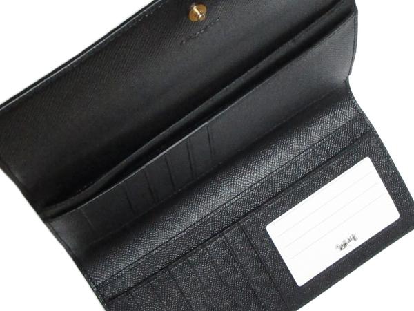コーチ 長財布F79868黒 スリットポケット