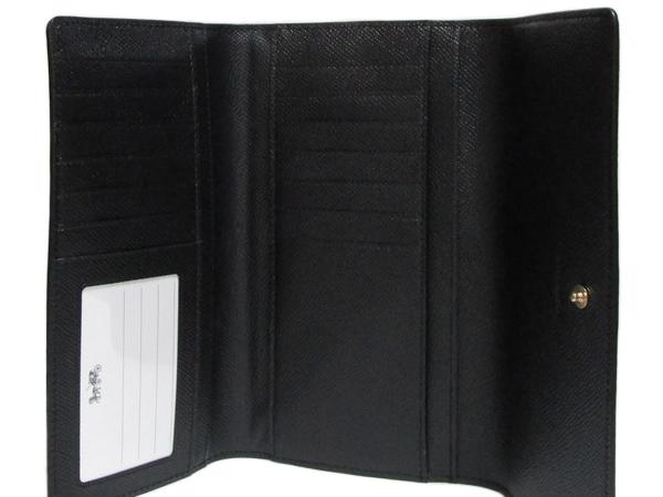 コーチ 長財布F79868黒 内装