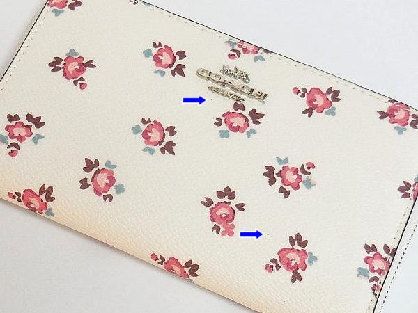 コーチ コンパクト財布27679花柄白 訳あり